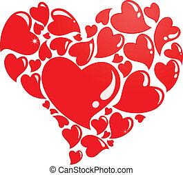 Heart composed of many hearts