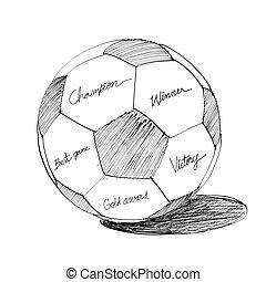 Soccer ball Hand drawn