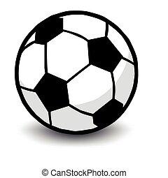 soccer ball isolated on white - vector