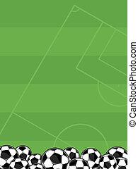 soccer balls field background