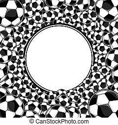 soccer balls frame background
