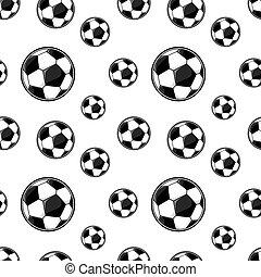 soccer balls seamless pattern