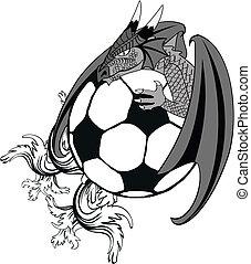 soccer dragon tatto tshirt2