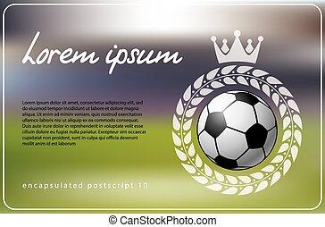 Soccer theme background