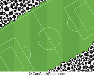soccerballs playingfield background