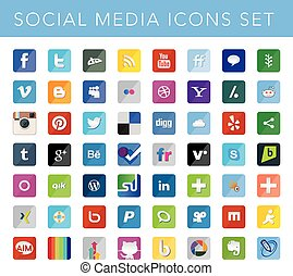 EDITORIAL USE ONLY This a set of social media icons suitable for your web and mobile projects Full resizable and editable. High quality