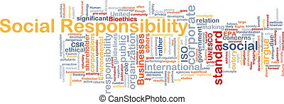 Social responsibility background concept
