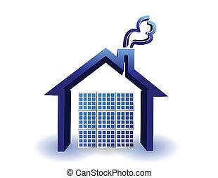 solar energy panels on a house