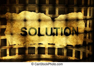 Solution concept behind bars