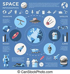 Space Colored Infographic