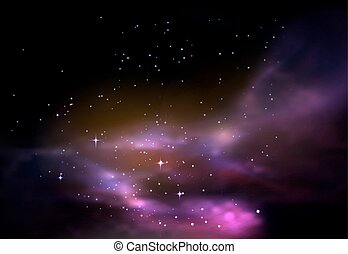 Space or universe, galaxy or cosmos panorama