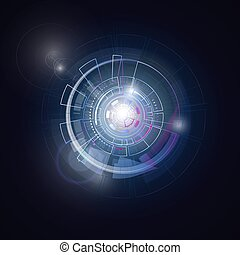 Space round universe planet system