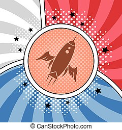 space shuttle rocket theme vector art illustration