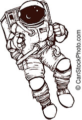United States NASA astronaut wearing a space suit.