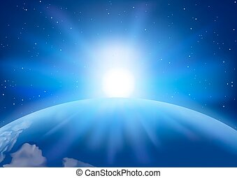 Space Sunset Background