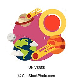 Space Universe Vector Image