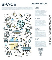 Space Vertical Infographic