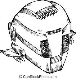 Spaceship UFO Sketch Vector Art