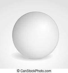 Matted gray sphere, vector eps10 illustration