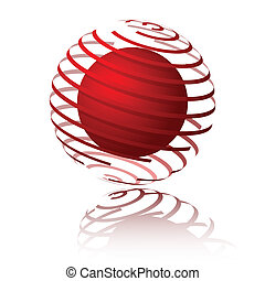 Spiral sphere design. Available in jpeg and eps8 formats.