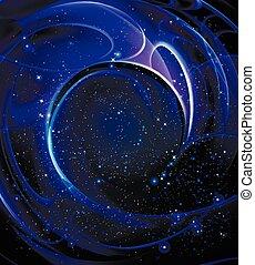 Galaxy spiral shape, vector art illustration space.