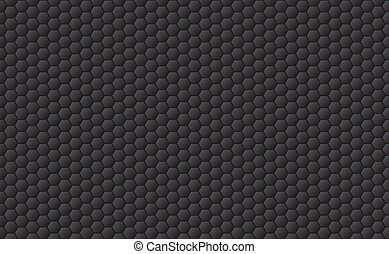 Sport seamless pattern background. Golf ball texture in black. Hexagons background