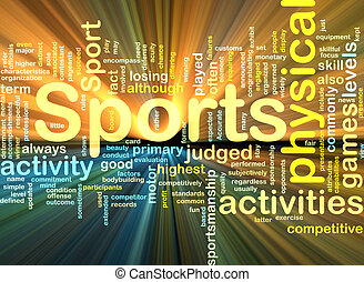 Background concept illustration of sports physical activities glowing light effect