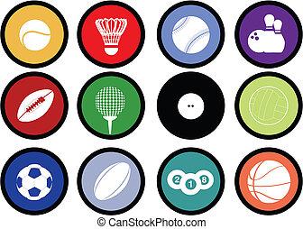 sports balls buttons
