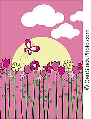 spring childish vector graphic