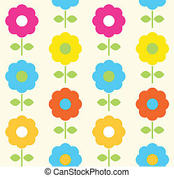 Spring flower seamless pattern vector design