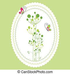 Spring summer floral greeting card