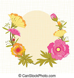Springtime Colorful Flower Background