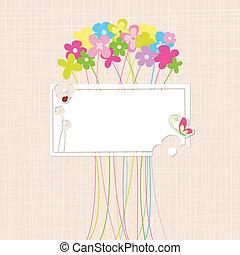 Springtime Colorful Flower Greeting Card