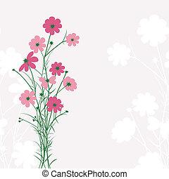 Springtime Colorful Flower on Pink Background