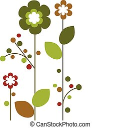 Springtime colorful flowers bloom, abstract design -2