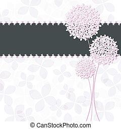 Springtime Pink Purple Hydrangea Flower Greeting Card