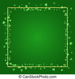 Square Saint Patricks Day background with clover