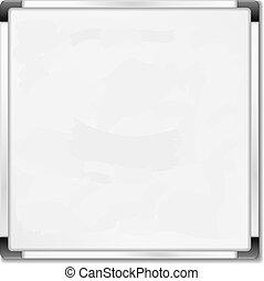 Square whiteboard on white background, vector eps10 illustration