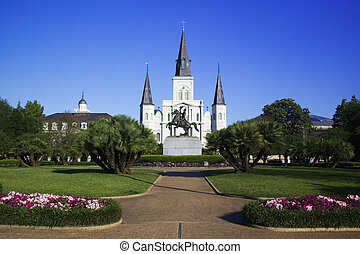 St. Louis Cathedral in Jackson Square New Orleans, Louisiana, United States