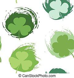 St. Patrick's day seamless pattern
