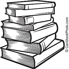 Stack of books (books stacked)