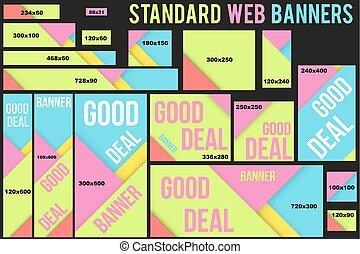 Standard Vector Web Banners Templates
