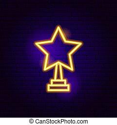 Star Award Neon Sign