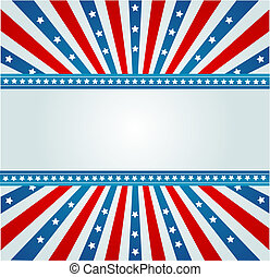 A patriotic background for Fourth of July