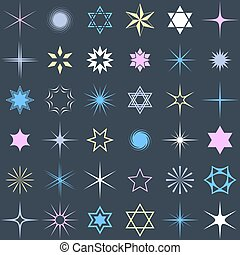 Stars and sparkles design elements