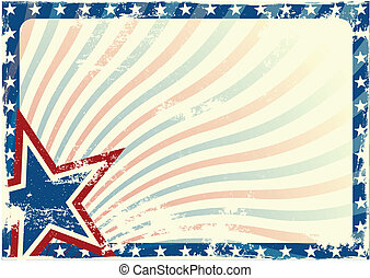 detailed illustration of a stars and stripes background with grunge texture and white space, eps 10 vector