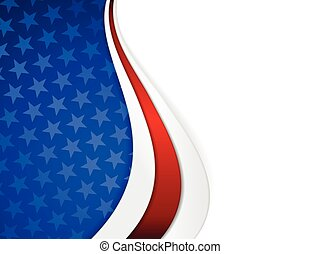 Stars and stripes themed background