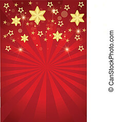 Stars and stripes with Christmas