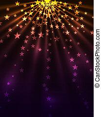 Stars burst background