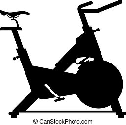 Stationary bicycle, shade picture